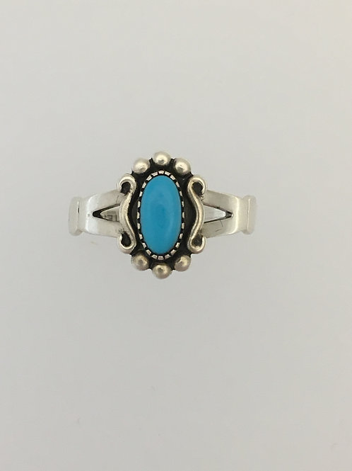 925 Turquoise Ring Size - 6 3/4