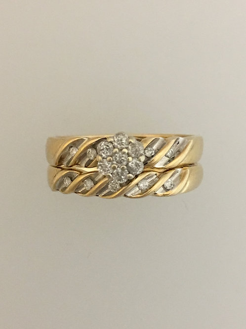 10k Yellow Gold .34 Diamond Ring Size - 7