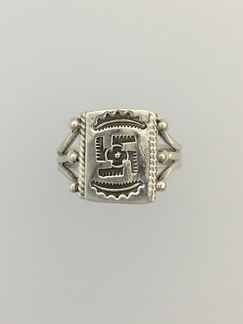 925 Indian Ring Size - 7 1/2