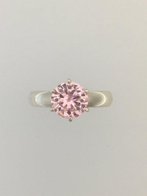 925 Pink CZ Size - 9