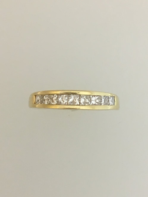 14k Yellow Gold .75 TW Diamond Ring Size - 6 1/2