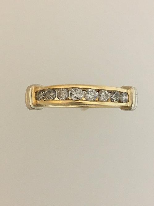 14k YellowGold/White Gold .80 TW Diamond Ring Size - 7 1/4