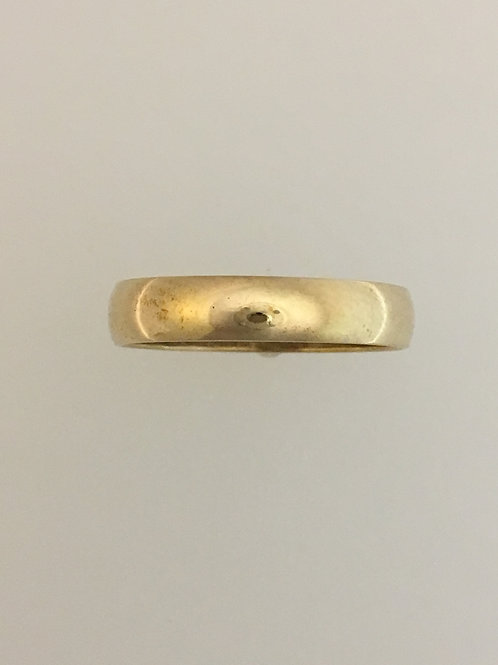 10k Yellow Gold 4mm Ring Size - 7 1/2