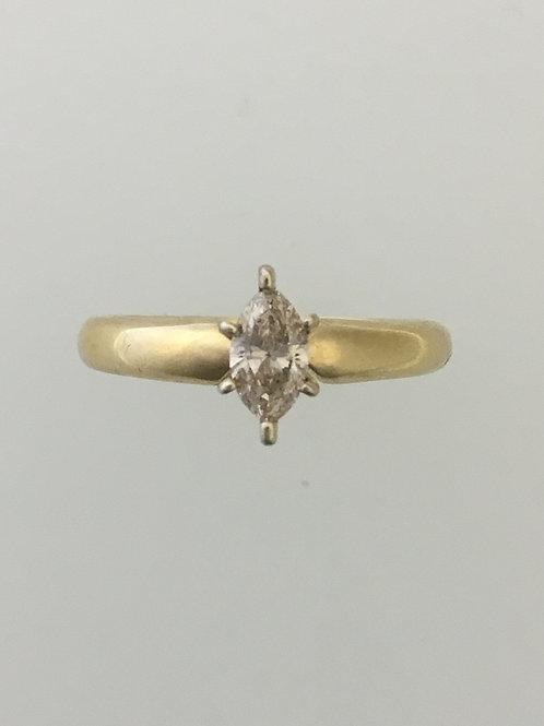 14k Yellow Gold .40 TW Diamond Ring Size - 7