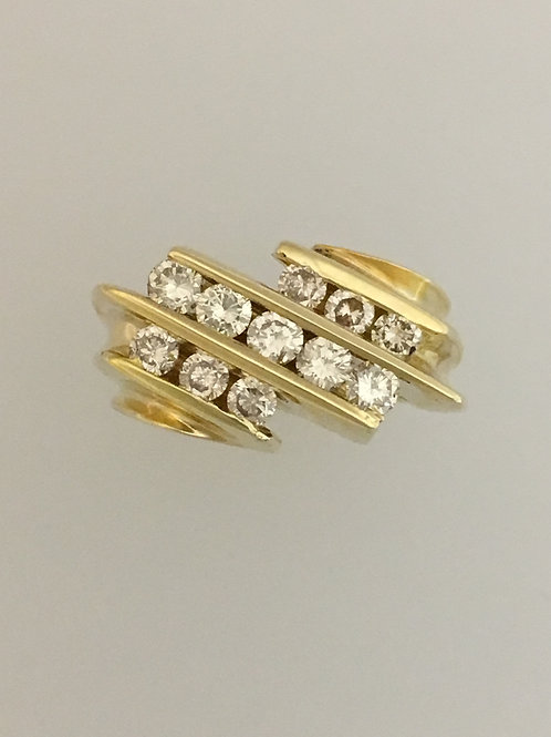 14k Yellow Gold .75 Diamond Ring Size - 4 1/2