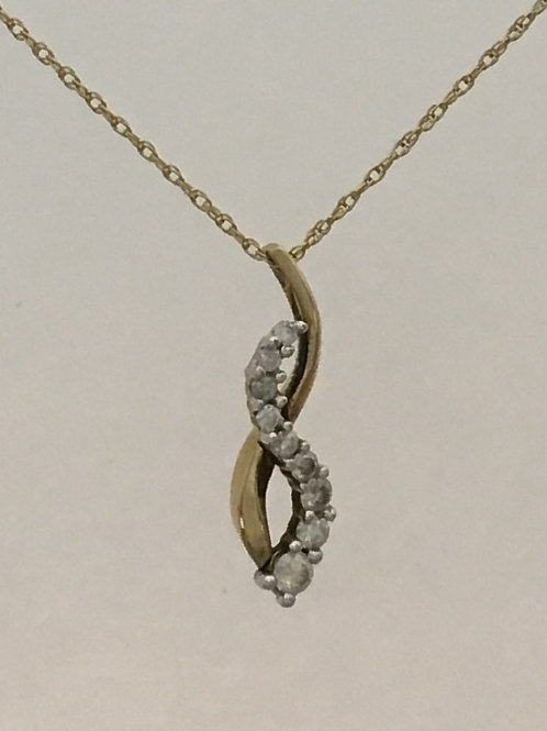 "10k Yellow Gold .25 Diamond 18"" Necklace"
