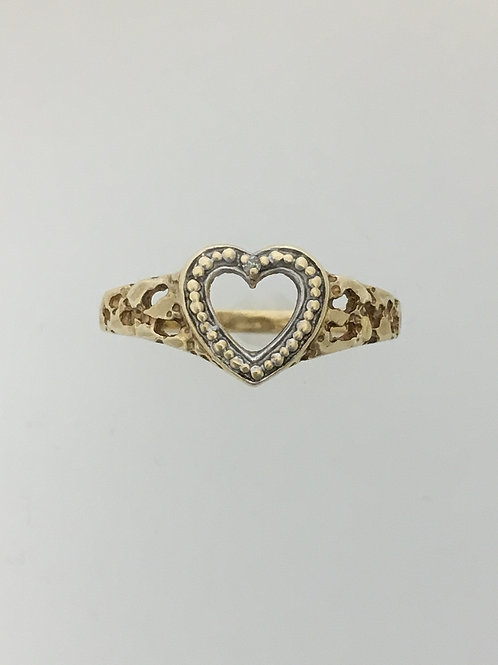 10k Yellow Gold and .005 Diamond Ring Size - 6