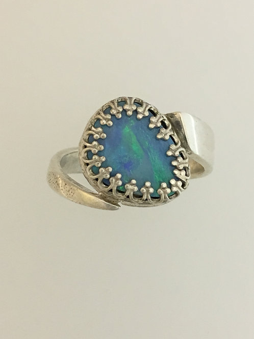 925 & Opal Ring Size - 7