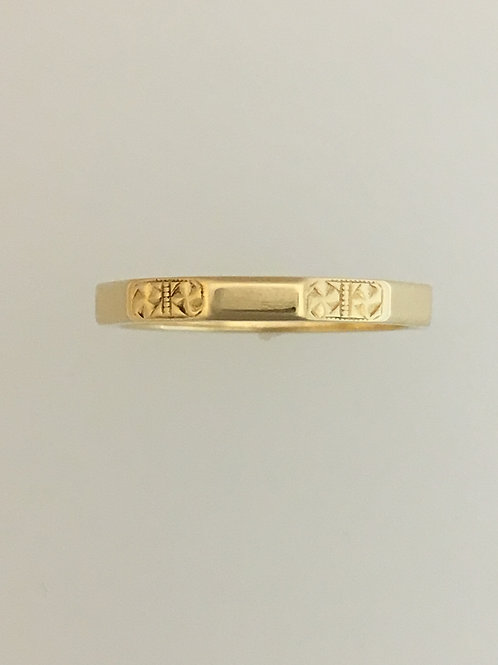 14k Yellow Gold 2 1/2mm Ring Size - 6 1/2
