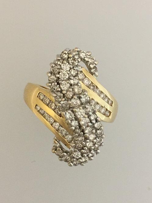 14k Yellow Gold  1.5 TW Diamond Ring Size - 7