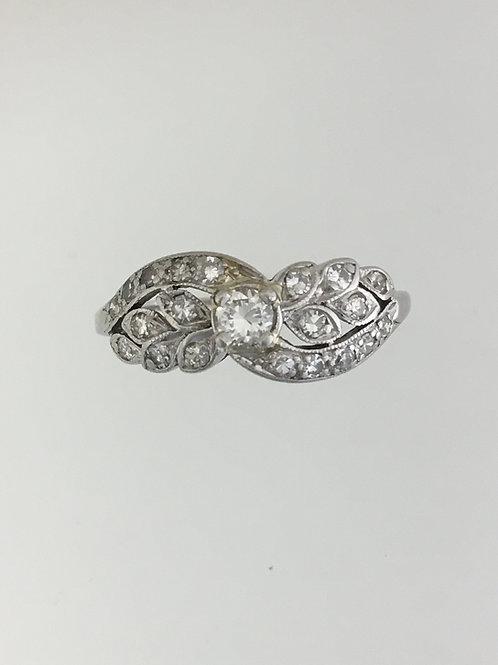 Platinum and .35 Diamond Ring Size - 9