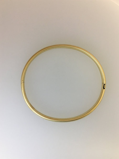 14k Yellow Gold Bright Finish 5mm Wide Bracelet