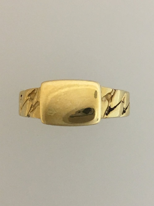 10k Yellow Gold Signet Ring Size - 8