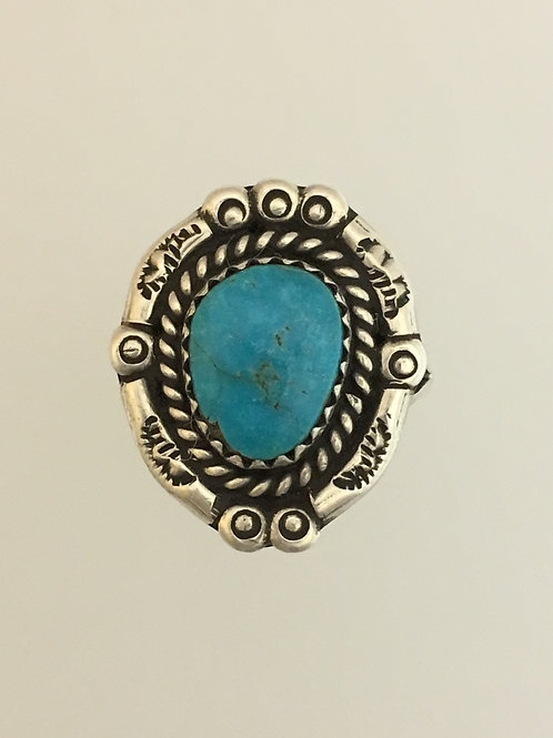 925 & Turquoise Ring Size - 4 3/4