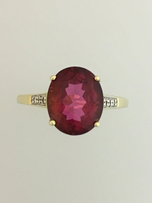 10k Yellow Gold Passion Topaz Ring Size - 10 1/2