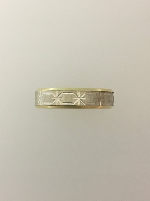 14k Yellow Gold/White Gold Ring Size - 10