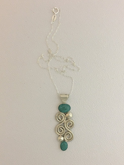 """925 & Turquoise 16"""" Necklace"""