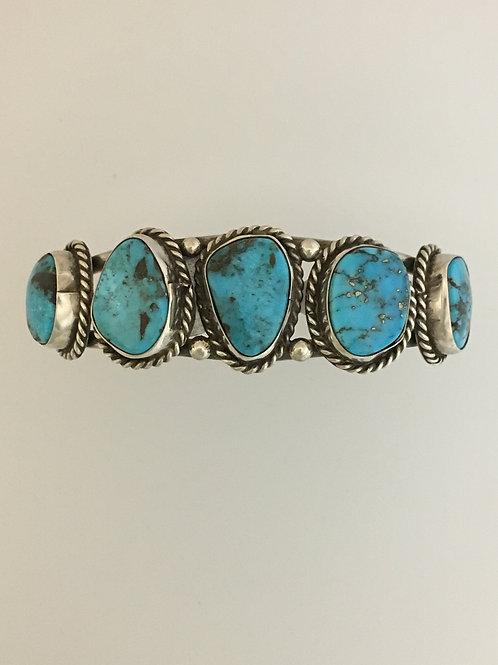 Lady's 925 & Turquoise Cuff Bracelet