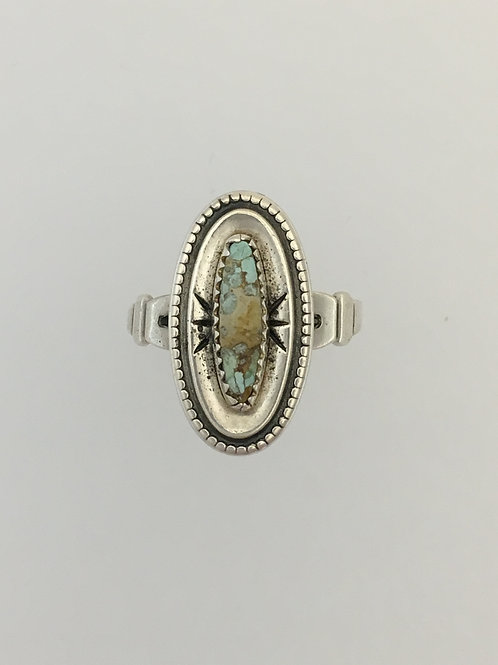 925 & Turquoise Ring Size - 5