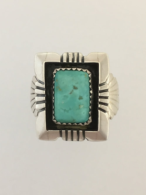 925 & Turquoise Ring Size - 12 1/2