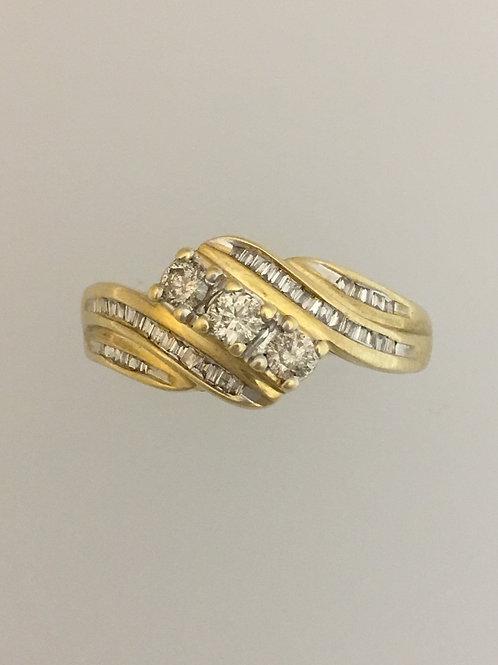 10k Yellow Gold .50 Diamond Ring Size - 7 1/4