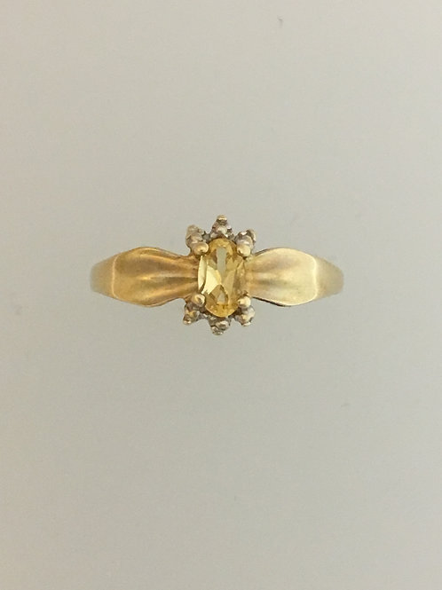10k Yellow Gold.35 Citrine Ring Size - 5 1/2