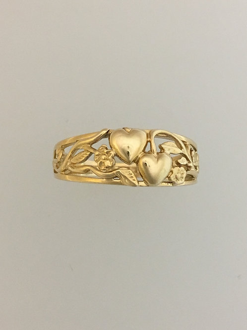 14k Yellow Gold Ring Size - 8