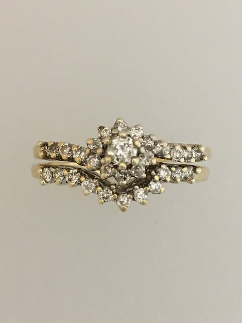 14k Yellow Gold .80 CTTW Diamond Ring Size - 6