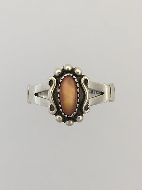 925 & Mexican Opal Ring Size - 6