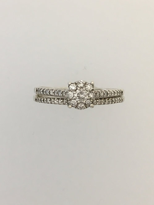 925 .50 TW Diamond Ring Size - 9 1/2