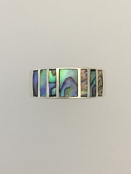 925 & Abalone Shell Ring Size - 8