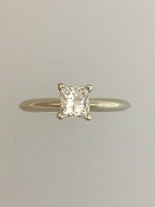 14k White Gold .65 SI1 - HI Diamond Ring Size - 7