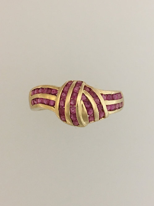 14k Yellow Gold 1.2 Ruby Ring Size - 6 1/2