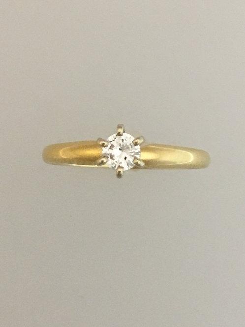 14k Yellow Gold .20 Diamond Ring Size - 5 3/4