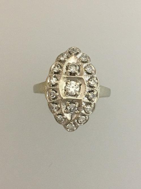 14k White Gold .65 TW Diamond Ring Size - 3 1/2