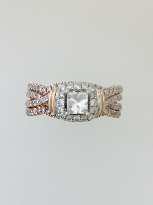 14k Rose Gold .40 CS 1.28 TW Diamond Ring Size - 6