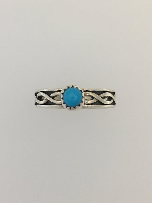 925 & Turquoise Ring Size - 7 3/4