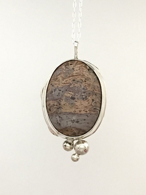 "16"" 925 & Jasper Necklace"