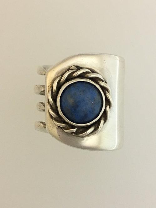 925 & Lapis Ring Size - 7 3/4