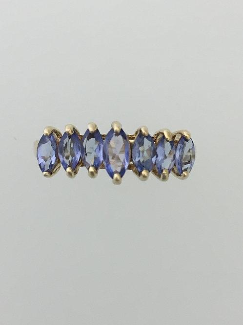 10k Yellow Gold One Carat Tanzanite Ring Size - 17375