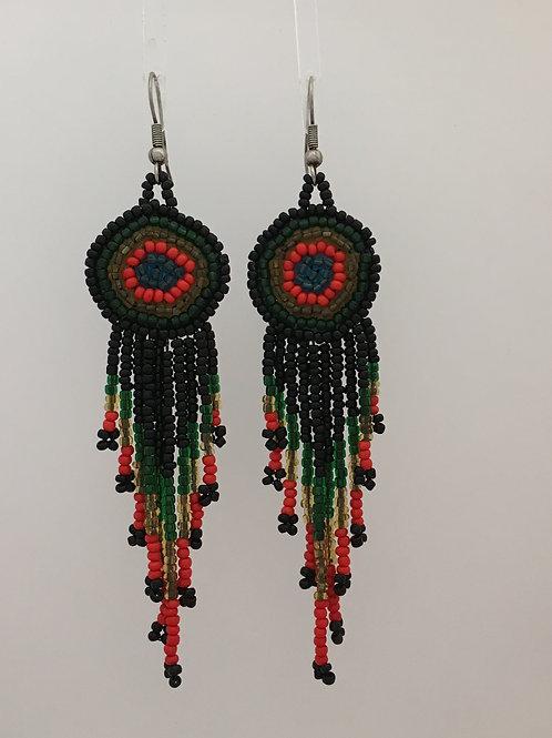 925 & Seed Bead Dangle Earrings