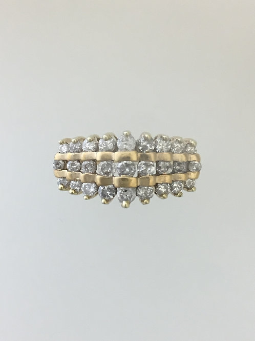 10k Yellow Gold One Carat TW Diamond Ring Size - 5 1/2