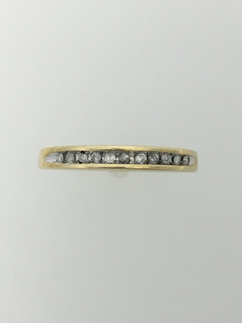 10k Yellow Gold and .10 Diamond Ring Size - 7