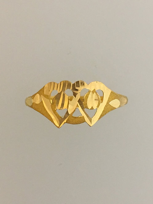 18k Yellow Gold Ring Size - 8 3/4