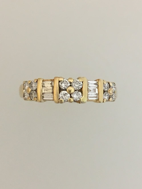 14k Yellow Gold .60 TW Diamond Ring Size - 6 1/2