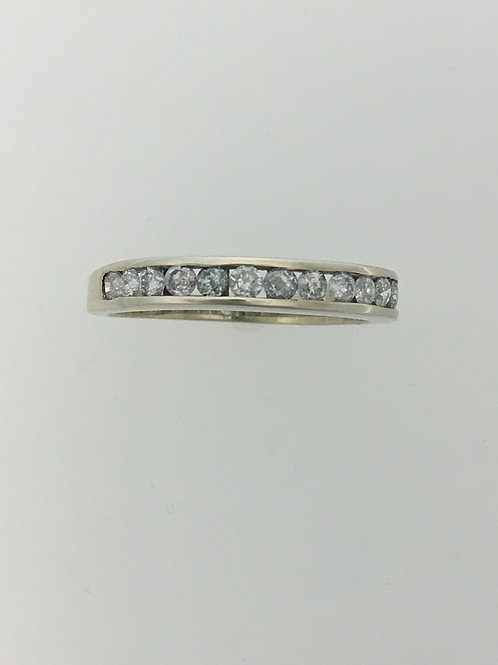 10k White Gold and .75 Diamond Ring Size - 7 1/4