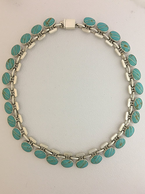 "925 & Turquoise 17"" Necklace"