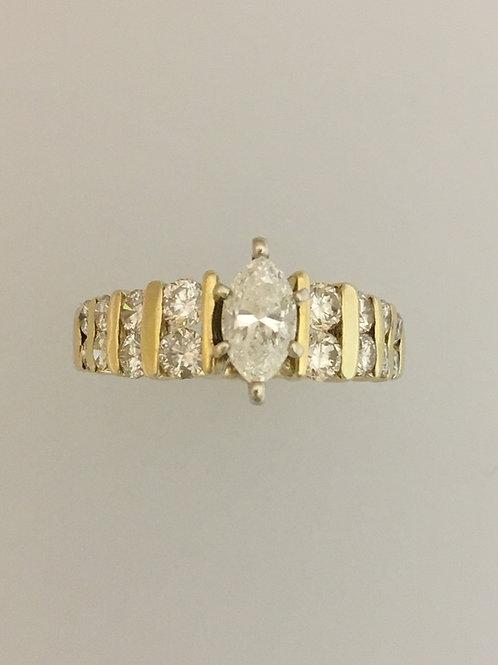 14k Yellow Gold 1.25 Diamond Ring Size - 7 1/2