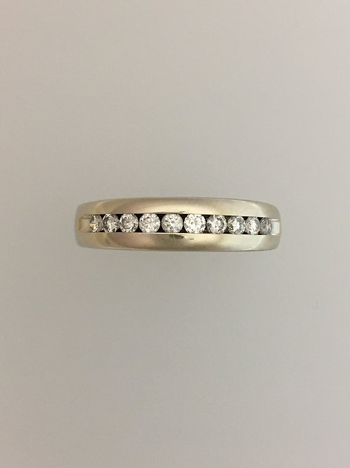 14k White Gold .75 Diamond Ring Size - 8 1/2