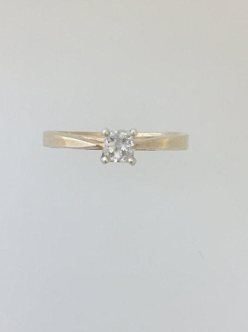 10k Yellow Gold .25 TW Diamond Ring Size - 5 1/2